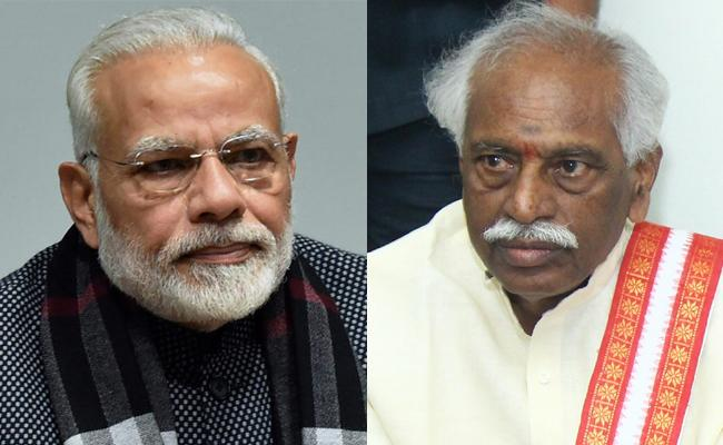 Narendra Modi Writes Condolence Letter On Dattatreya Son Death - Sakshi