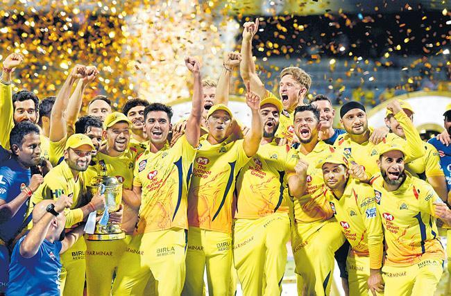 Chennai Super Kings to third IPL title - Sakshi
