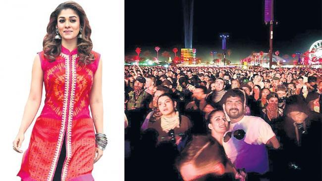 Nayanatara,Vignesh Shivan Attended A Musical Night At California - Sakshi