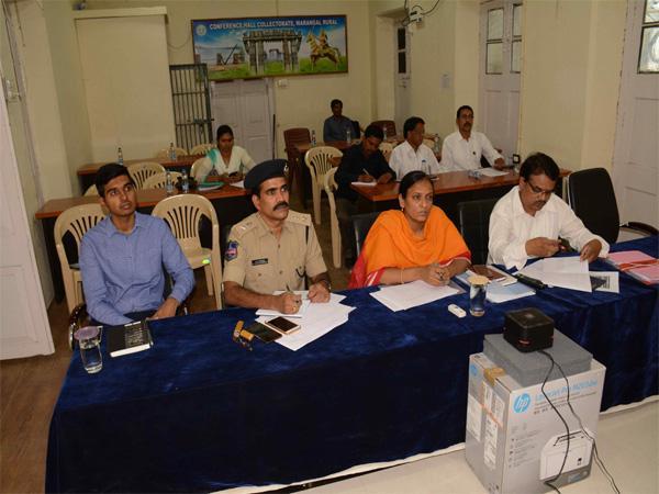 SK  Joshi Video Conference Meeting In Warangal - Sakshi