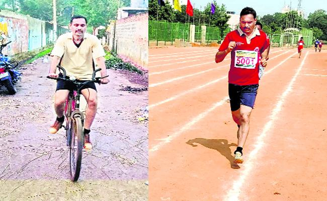 Nagababu Tallent In eteran Athletics East Godavari - Sakshi