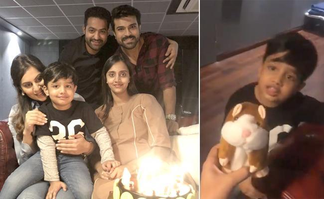 Ram Charan Couple Celebrates Jr NTR Marriage Day - Sakshi