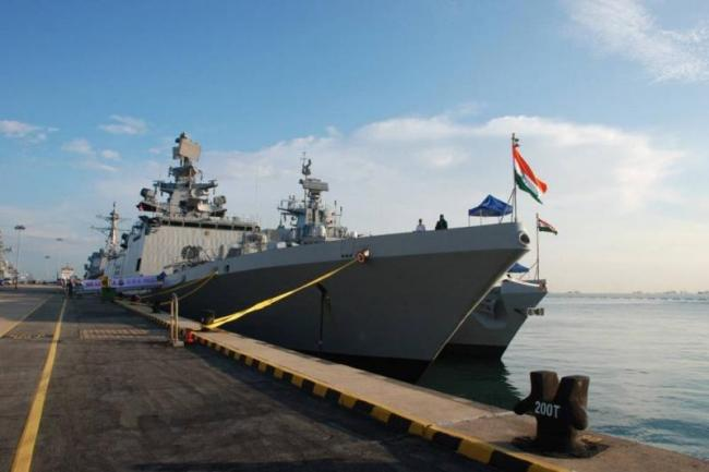 Indian Naval Ships reaches Singapore - Sakshi
