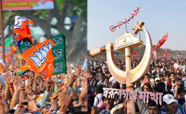 BJP CPM Alliance for West Bengal Panchayat Polls - Sakshi