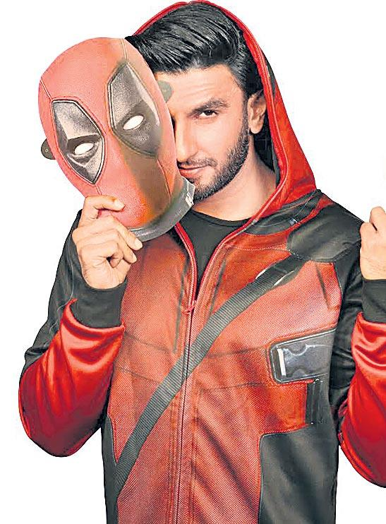 Ranveer Singh claims to out-crass Ryan Reynolds in Deadpool 2 Hindi - Sakshi