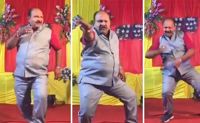 Indian Uncle Govinda Style Dancing Video Viral - Sakshi