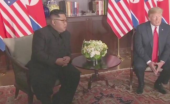 Donald Trump-Kim Jong Un Singapore summit details - Sakshi