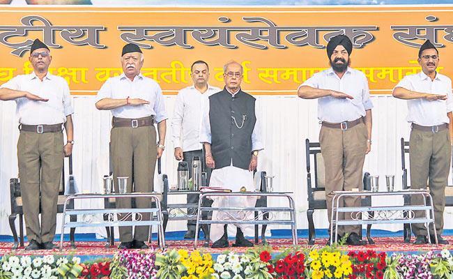 RSS Was Invites Pranab Mukherjee To Adress - Sakshi