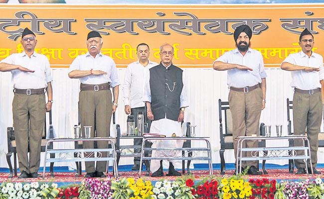 RSS Was Invites Pranab Mukherjee To Adress - Sakshi