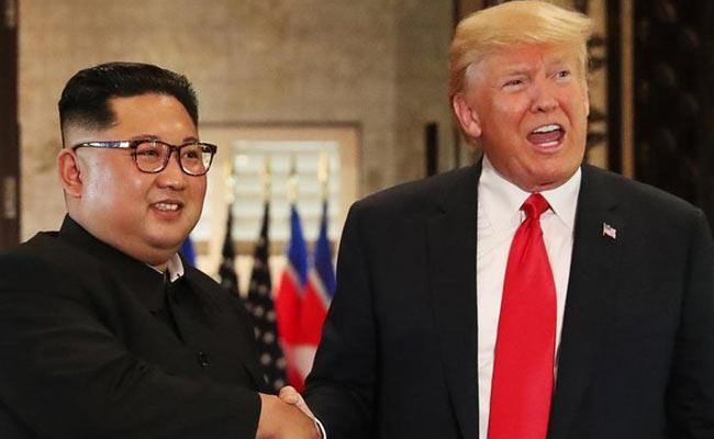 Trump And Kim Jong Un mEeting End With Lunch - Sakshi
