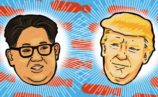 Stairs On Trump And Kim In Social Media - Sakshi