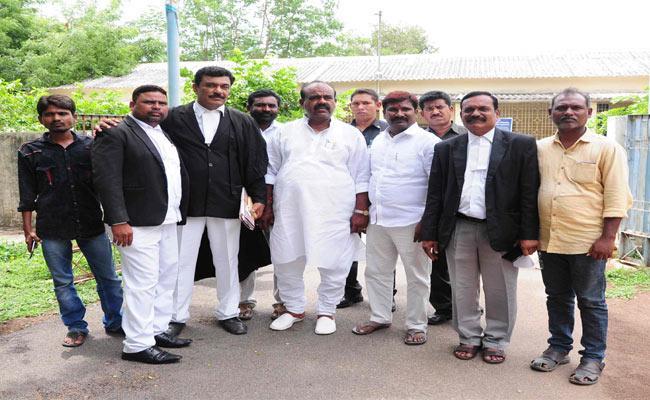 Speaker Madhusudanachari attended the Railway Court - Sakshi