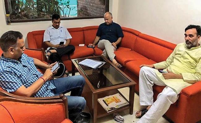 Delhi CM Arvind Kejriwal Continues His Strike Second Day - Sakshi