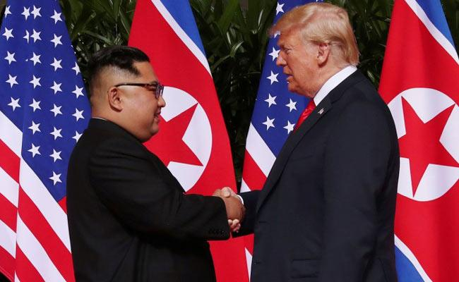 Trump And kim Promise For Peace In Korea - Sakshi