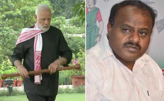 Narendra Modi Fitness Challenge For Karnataka CM Kumaraswamy - Sakshi