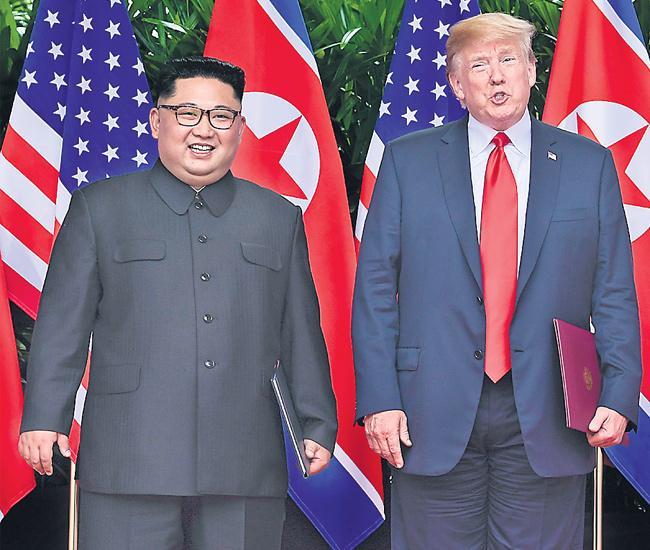 Trump's Historic Summit With Kim Jong Un in Singapore - Sakshi