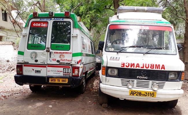 108 Vehicles Damaged And Services Delayed In West Godavari - Sakshi