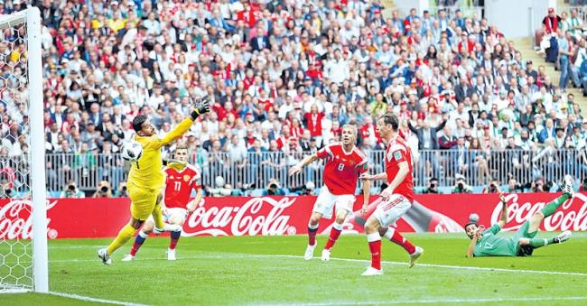 World Cup 2018 hosts kick off finals with opening game win in Moscow - Sakshi