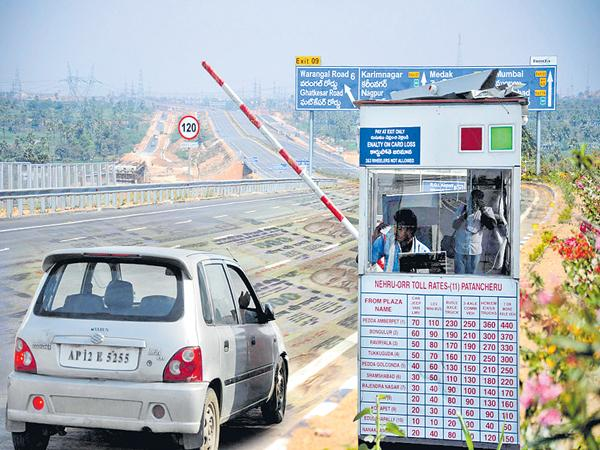 Huge Toll Robbery in the Hyderabad Outer Ring Road - Sakshi