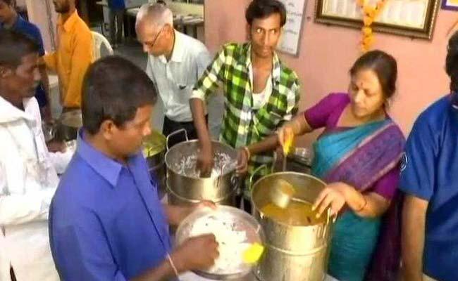 Seva Bharathi Trust Offers 2 Times Meals For 10 Rs Only - Sakshi