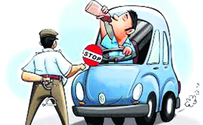 increase in drunken driving cases  - Sakshi