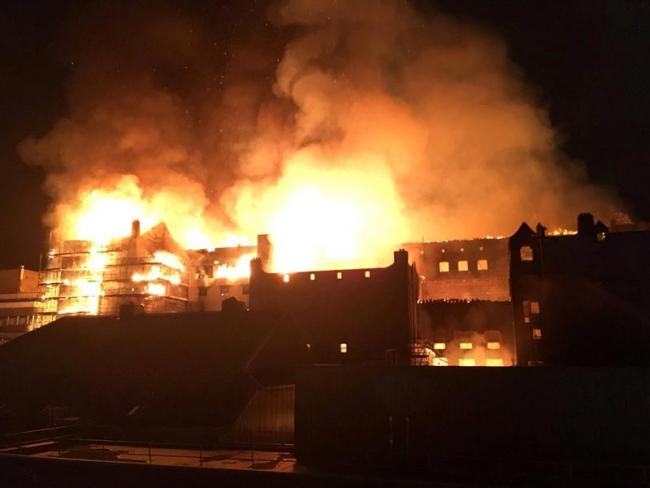 glasgow School of Art building has been destroyed again . - Sakshi