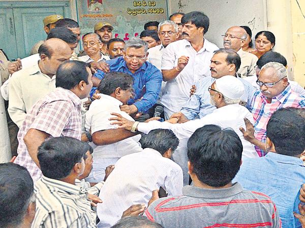 Attack on AP NGO leader Ashok Babu  - Sakshi