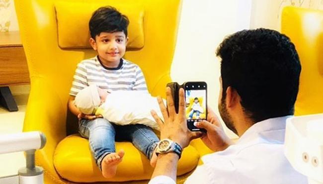Jr NTR Shares His Second Son Photo - Sakshi