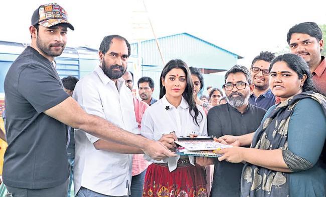 Shriya saran and Niharika Movie Launched by Varun Tej and Krish - Sakshi