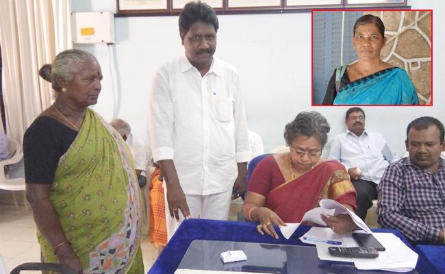 Krishnaveni Want To Survey Her Land From 2007 In Guntur - Sakshi