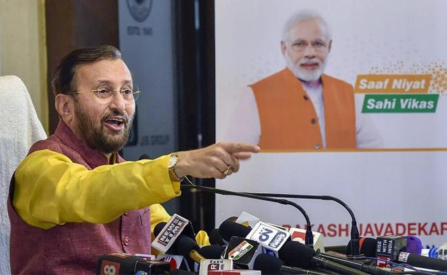 Prakash Javadekar Says Working Towards Long Term Solution for Petrol Price Hike - Sakshi