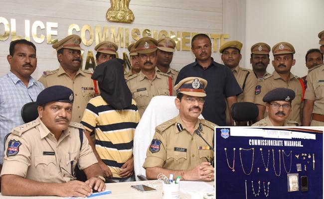 Police Arrested Criminal For Elderly Couple Murder In hasanparthy - Sakshi