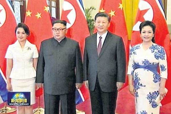 Kim Jong-un meets Xi Jinping for third time - Sakshi