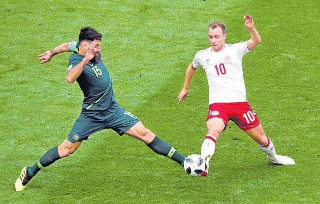 Denmark on Pace to Advance in World Cup After Draw With Australia - Sakshi
