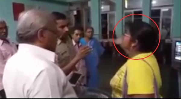 Woman Hulchul In Guntur Railway Station - Sakshi