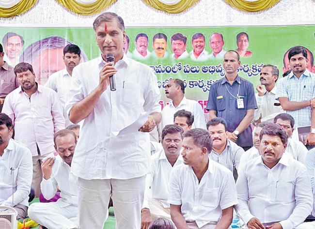 Minister Harish Rao Fires On AP CM Chandrababu Naidu - Sakshi