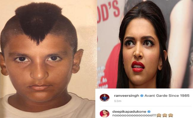 Deepika Padukone Funny Comment On Ranveer Singh Childhood Photo - Sakshi