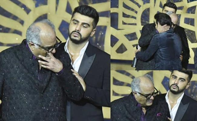 Boney Kapoor Was Become Emotional At IIFA Awards - Sakshi
