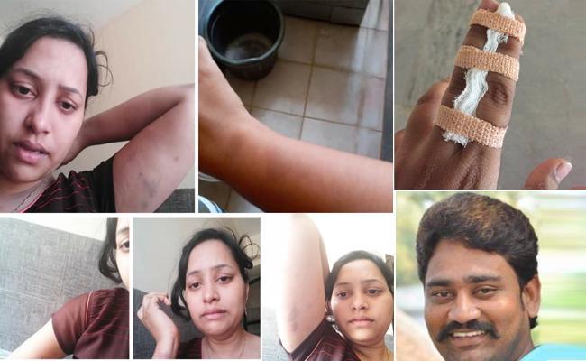 Harini kumari Alleges That Her Husband TDP Leader Tortured Her - Sakshi