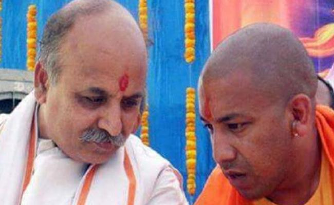 Yogi And Togadia Visit Ayodhya Over Ram Temple Issue - Sakshi