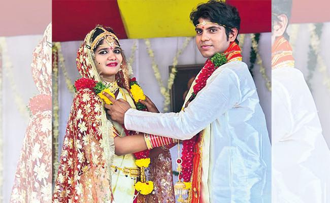 Orphan Woman Wedding In Gauri Asram - Sakshi