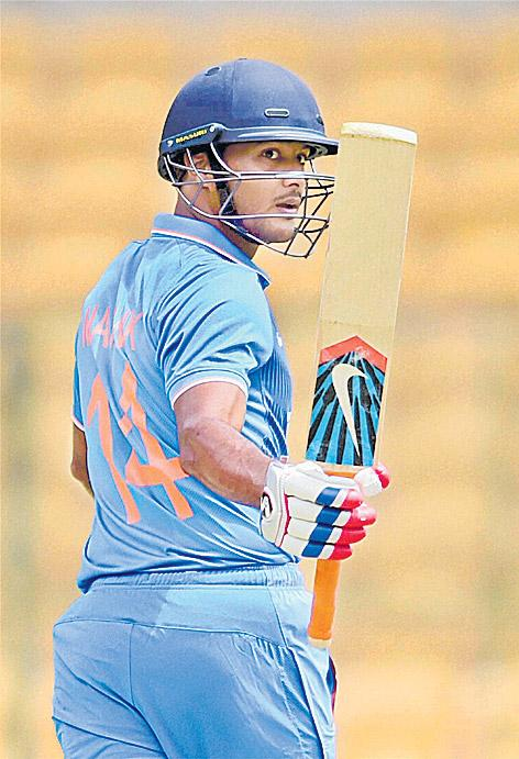 Mayank Agarwal, Deepak Chahar power India A to 7-wicket win  - Sakshi