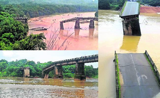 Image result for karnataka bridge collapse phalguni river image
