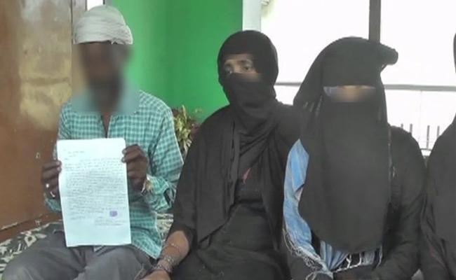 Father Of Four Girl Write Letter To PM and UP Cm For Seeks Security For Them - Sakshi