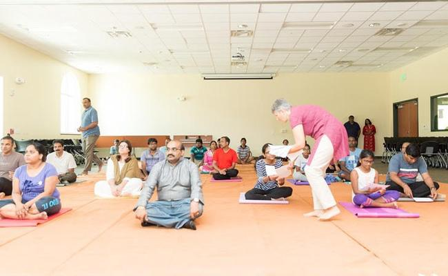 NATS Community Yoga event held by Florida  - Sakshi