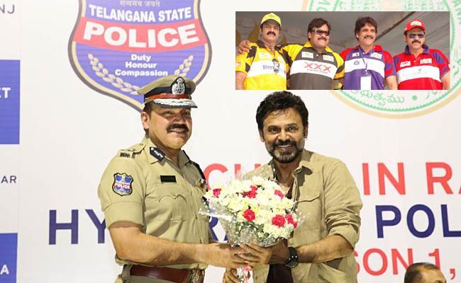 Tollywood Heros Vs Hyderabad Police Cricket Match At LB Stadium Hyderabad - Sakshi