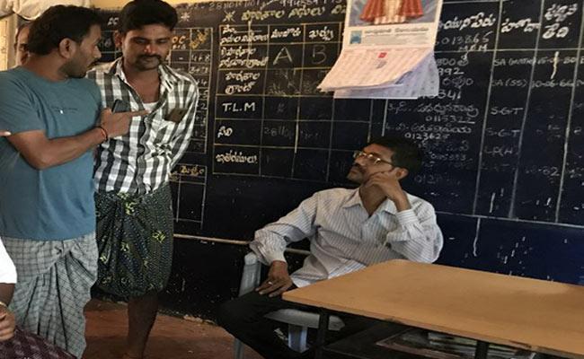 Drunker Teacher In Srikakulam - Sakshi