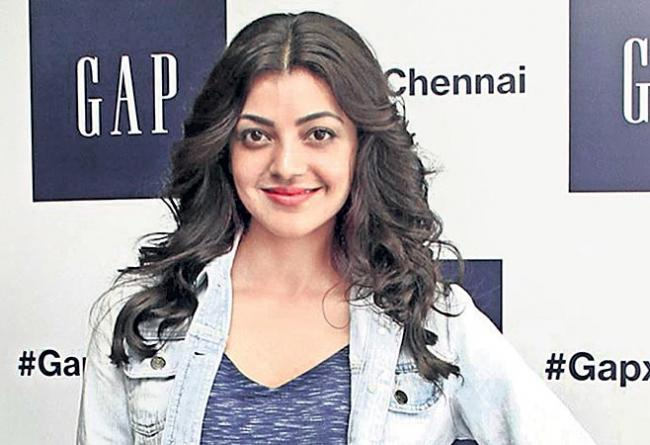kajal agarwal relaxed for cooking - Sakshi