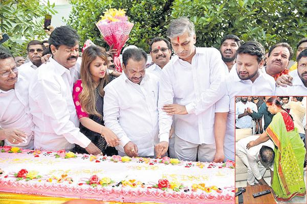 Harish Rao birthday Celebrations as Grand - Sakshi