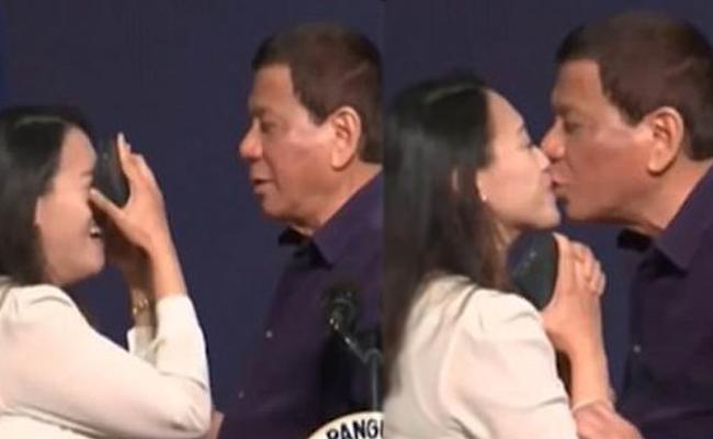 Philippines President Kisses Woman Stirs Controversy - Sakshi